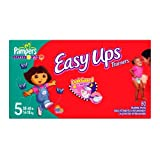 Pampers Easy Ups for Girls, Size 5, 80 Count