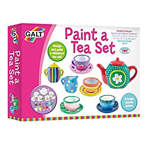 Galt Toys, Paint a Tea Set, Kids' Craft Kits, Ages 5 Years Plus