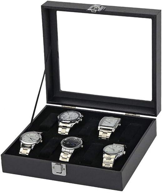 Cajas para Relojes, Mens elegante bisagra de metal superior ...