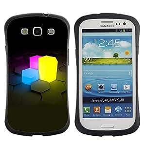 Suave TPU GEL Carcasa Funda Silicona Blando Estuche Caso de protección (para) Samsung Galaxy S3 I9300 / CECELL Phone case / / Neon Cubes /