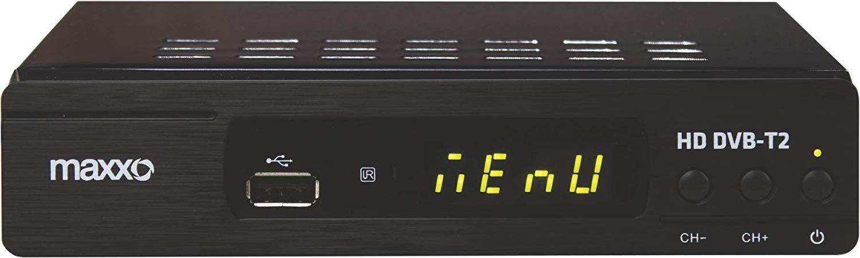 Maxxo Digital Reciever Set-top-Box-Empf/änger DVB-T//DVB-T2 HDMI Full HD 1080p TV Decoder