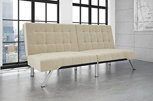 dhp-emily-futon-sofa-bed-modern-convertible-couch-with-chrome-legs-quickly-converts-into-a-bed-rich-