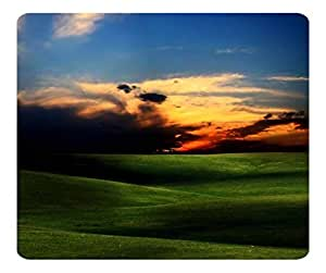 Decorative Mouse Pad Art Print Landscape and Plants Green Fields 2