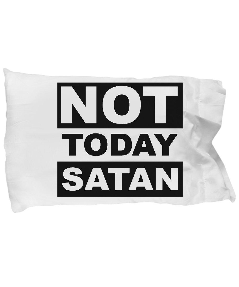 Funny Novelty Gift For Christian Not Today Satan Best Jesus, Christ, Christian Pillow Case