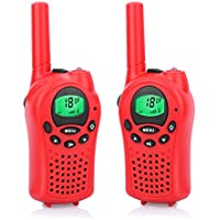DDSKY Walkie Talkies for Kids FRS/GMRS Handheld Mini Walkie Talkies 22 Channel Walkie Talkies 2 Way Radio 5 Miles-A Pair(Red)