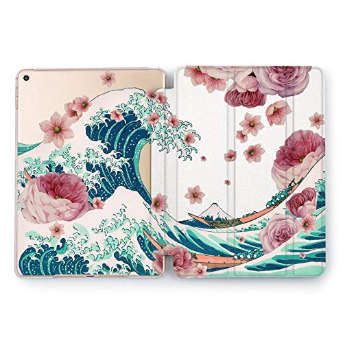 Wonder Wild Flowers Wave iPad Case 9.7 Pro inch Mini 1 2 3 4 Air 2 10.5 12.9 2018 2017 Design 5th 6th Gen Clear Print Smart Hard Cover Floral Stand Design Journey Ocean Vacation Trip Watercolor New