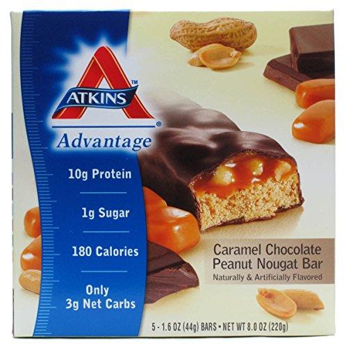 Chocolate Peanut Nougat (Atkins Advantage Bar Caramel Chocolate Peanut Nougat -- 5)