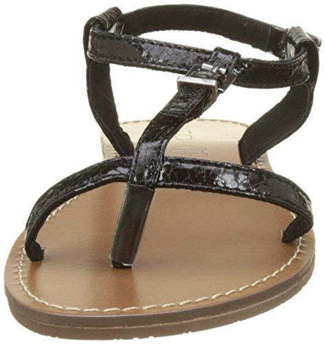 Noir con Negro Les Mujer Zhoe para Sandalia Pulsera Bombes P'Tites f7qwxz7U