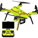 MightySkins Protective Vinyl Skin Decal for 3DR Solo Drone Quadcopter wrap cover sticker skins Softball Collection