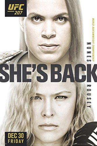 Ufc 207 Amanda Nunes vs Ronda Rousey Sports Poster