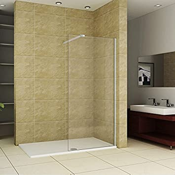 1700 X 750 Mm Walk In Shower Enclosure Stone Tray