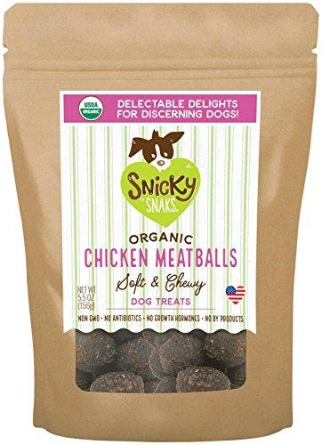 Snicky Snaks Usda Certified Organic Chicken Meatball, Wt 5.5 Oz, 1 Piece, One Size