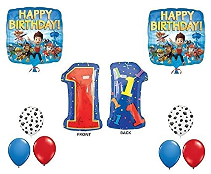 Paw Patrol 1st Happy Birthday Balloon Decoration Kit By Party Supplies