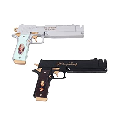 Ebony and ivory guns
