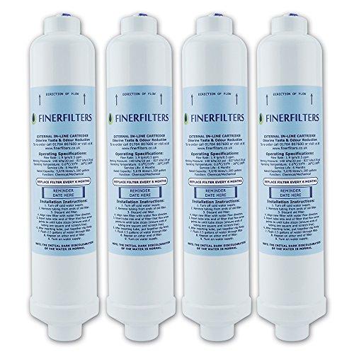 4 x Kühlschrank-Wasserfilter, kompatibel mit SAMSUNG, LG, Daewoo GE, Bosch, Beko
