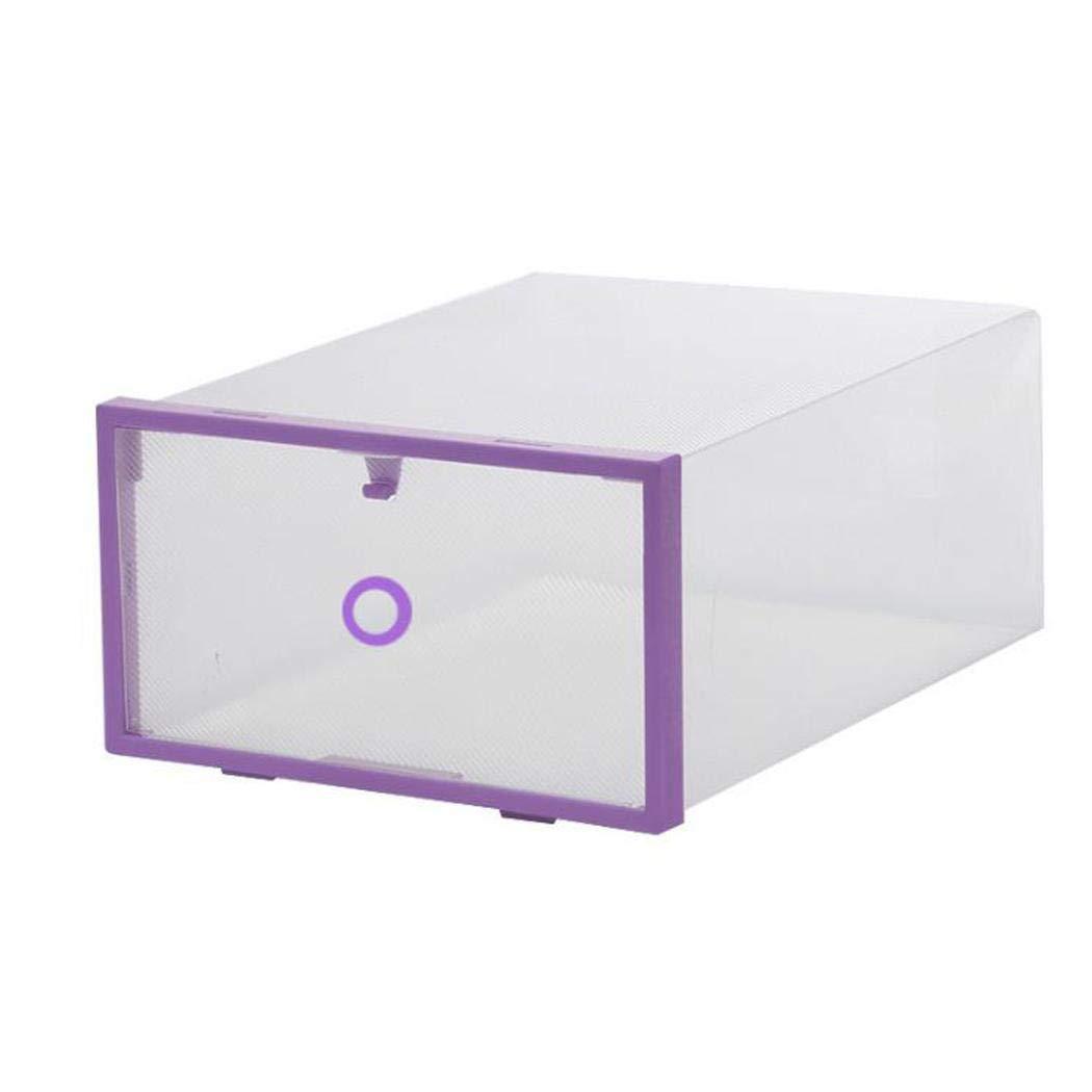 Pairkal Cajones de Almacenaje Plá stico Transparente, Caja de Almacenamiento Plegable, Caja de Organizador para Zapatos