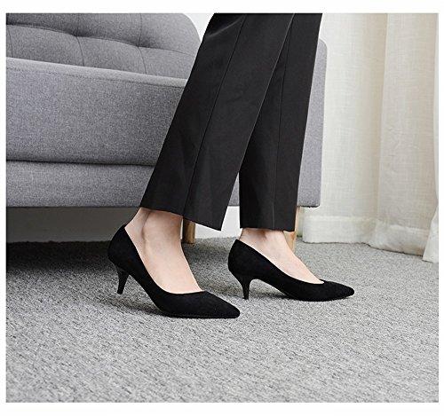 Tacco Donna 34 da CXY a da Nero Spillo con Alto Femminile Alto Tacco con Tacco con Tacco Nero Alto Col Scarpe Donna qf1Cvn7qw