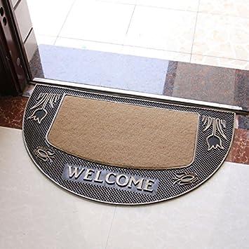 Goma alfombras-entrada puerta mat puerta corredera estera de baño y cocina de lujo semi los felpudos: Amazon.es: Hogar