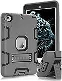 Topsky 2877893 Shock-Absorption Three Layer Armor Defender Full Body Protective Case for iPad Mini, Mini 2 , Mini 3, Mini Retina - Grey Black