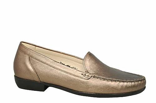 Waldläufer - Mocasines de cuero para hombre, color marrón, talla 39: Amazon.es: Zapatos y complementos