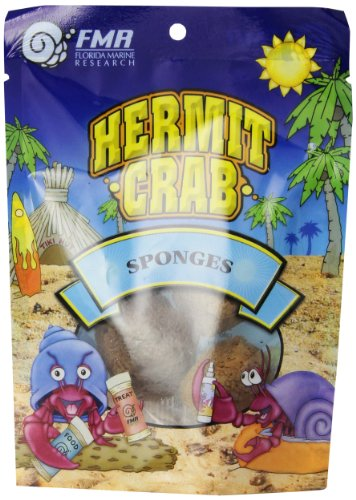 Hermit Crab Sponges (Florida Marine Research SFM33336 3-Pack Natural Small Animal Sponge)