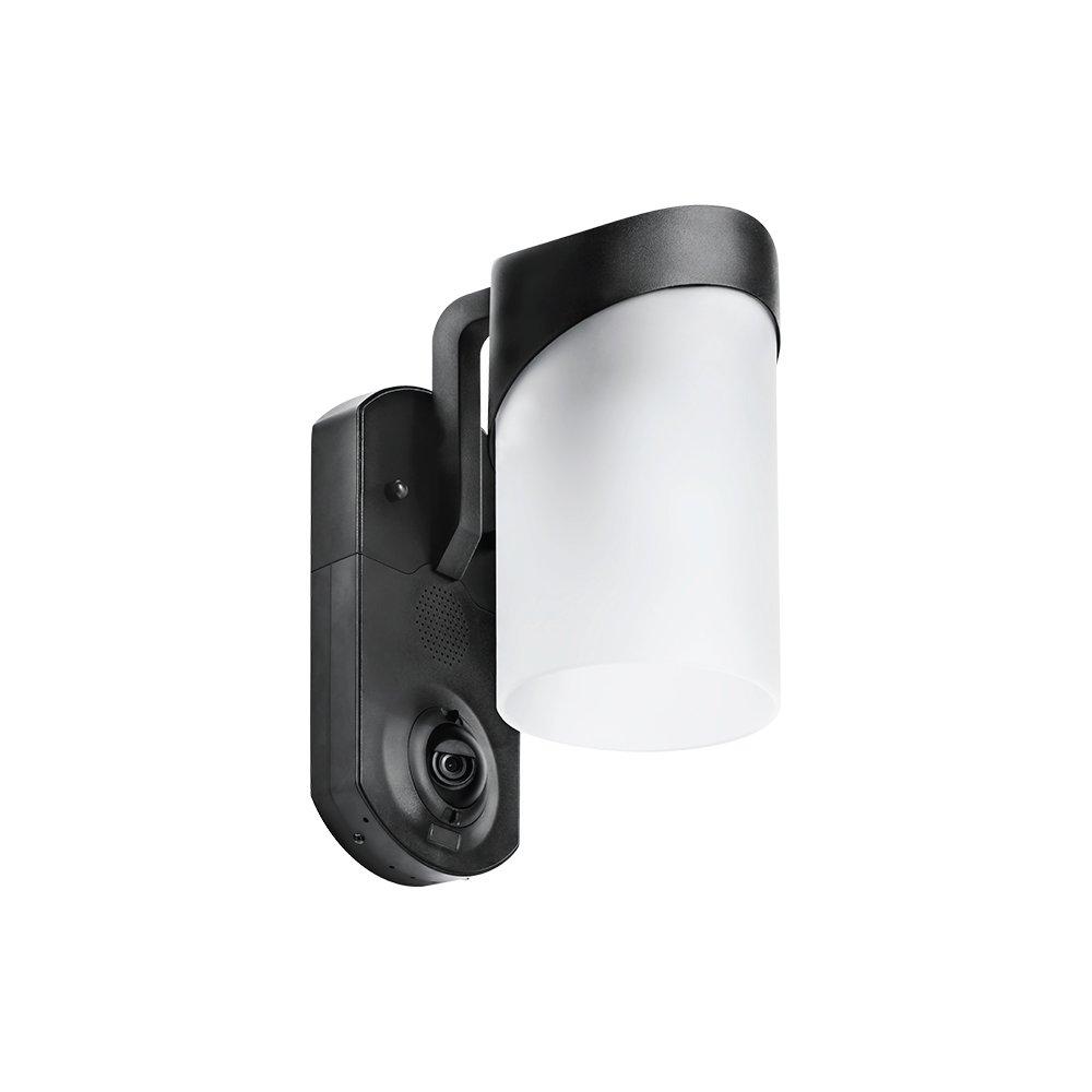 Maximus Video Security Camera & Outdoor Light - Contemporary Black - Works with Amazon Alexa