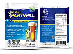 AfterPartyPal - Natural Hangover Relief & Hangover Prevention | 20-PACK Hangover Pills Detox Kit | Enhance your body\'s ability to metabolize toxins | Replenish & Revitalize |100% Money Back Guarantee!