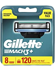 Gillette Mach3+ Replacement Cartridges 8 Count,