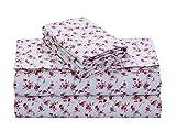 FEATHER & STITCH NEW YORK 100% Cotton Flannel Sheet Set, Deep Pocket - Warm - Super Soft -...