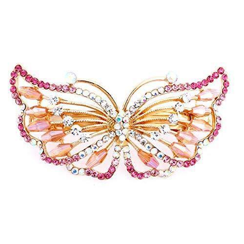 Oldlila 1Pcs Bow Hairpin Rhinestone Butterfly Hairpin Bow Rhinestone Hairpin