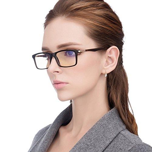 Jimmy Orange Brand Designer Computer Glasses Anti Blue Rays Anti Glare and Scratch Resistant Lens Reading Glasses JO7600G (brown)