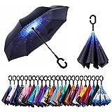 Best Pocket Umbrellas - AmaGo Inverted Umbrella – Reverse Double Layer Long Review