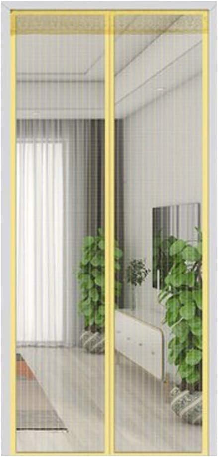 LONGHAI Mosquitera Puerta con Iman, Cortina Magnética para Manos Libres Instalación fácil para la Protección contra Insectos de Balcón Terraza Correderas Patio Sala de Estar,Beige,100x200cm(39x79in): Amazon.es: Hogar