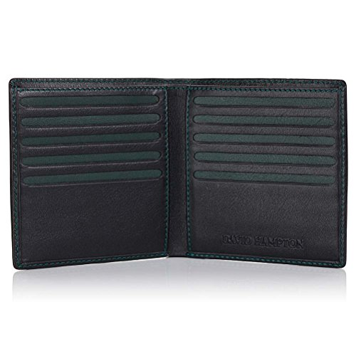 Credit David Leather David Wallet Black Hampton Green Hampton Card Label Yx7ngqZ