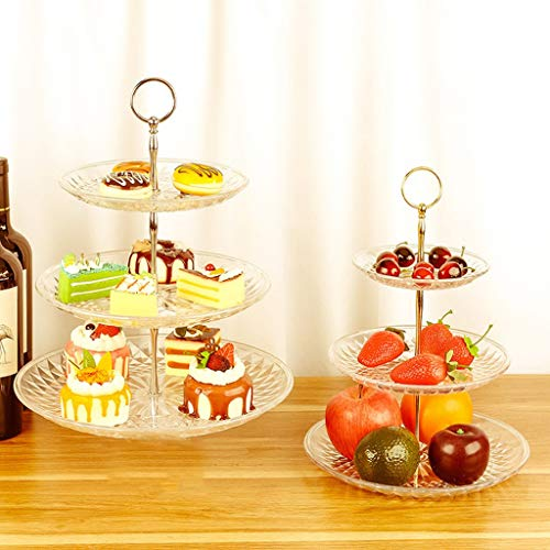 Hot Sale Elegant 3 Tier Dessert Cupcake Stand | Multifunction Fruit Plate | Cakes/Desserts/Fruits/Snack/Candy/Buffet Tree Tower Display Storage Organizer for Wedding/Birthday/Tea Party by Anewoneson