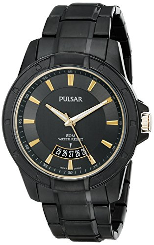 Pulsar Analog Wrist Watch (Pulsar Men's PS9273 On The Go Analog Display Japanese Quartz Black Watch)