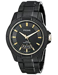 Pulsar PS9273 44mm Stainless Steel Case Black Steel Bracelet Hardlex (used for Seiko only) Men's Watch