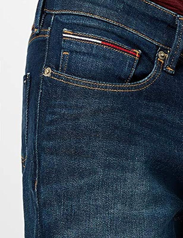 Tommy Jeans Męskie dżinsy Scanton, Dark Comfort 933, 33W / 30L: Odzież