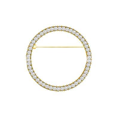 Amazon.com: Elegante broche de circonitas de geometría para ...