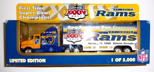 Nfl Football Diecast Collectible - St Louis Rams 2000 White Rose Diecast Collectibles NFL Football Super Bowl XXXIV Truck