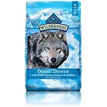 BLUE Wilderness Grain Free Denali Dinner with Wild Salmon, Venison & Halibut Dry Dog Food 22-lb