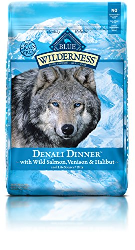 Blue Buffalo Salmon Dinner (BLUE Wilderness Grain Free Denali Dinner with Wild Salmon, Venison & Halibut Dry Dog Food 22-lb)