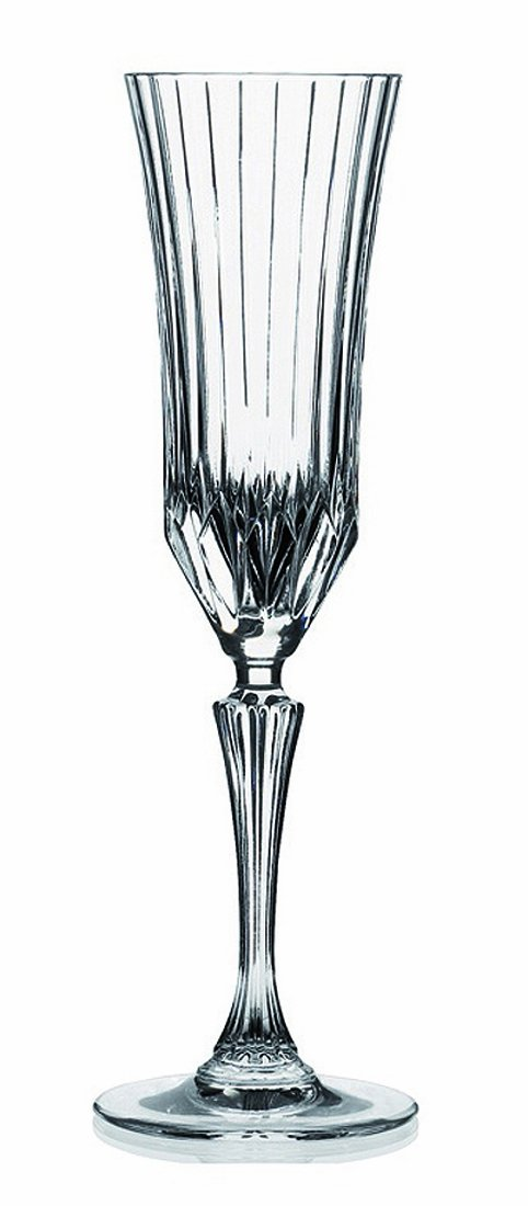 RCR Crystal Adagio Collection Champagne Flutes Glass Set