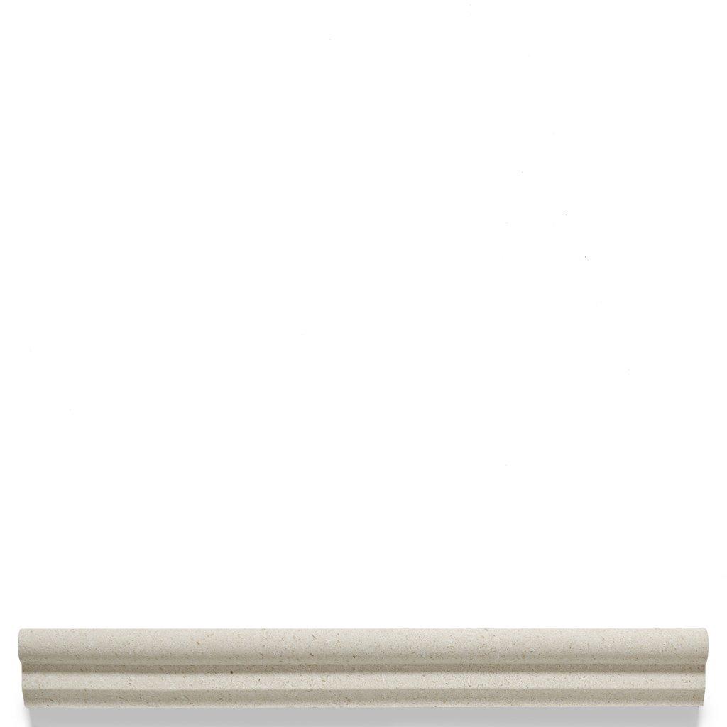 Waterworks Studio Stone Classic Chair Rail 1 3/8'' x 12 in White Limestone