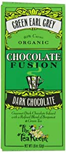 The Tea Room Organic Chocolate Fusion 60% Dark Chocolate, Green Earl Grey, 1.8 Ounce (Pack of 12)