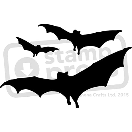 amazon com large a2 flying bats wall stencil template ws00023657