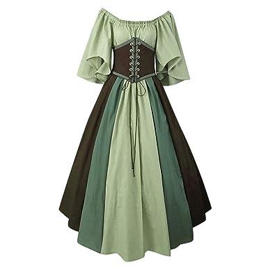 Vestido de Mujer de Estilo Medieval Vintage, con Cintura, Falda de ...