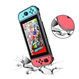Merssyria Protective Case, Moderate Hardness TPU Cover Case for Nintendo Switch, Come with Glass Screen Protector (Upgraded Case)