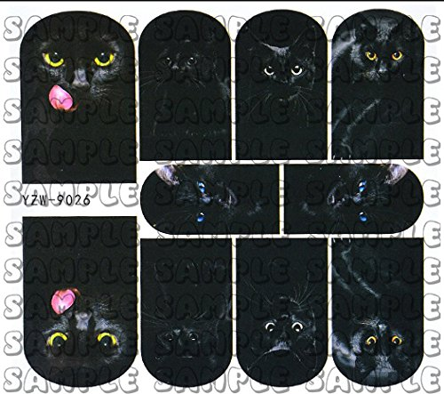 Mysterious Black Cat Full Nail Wraps