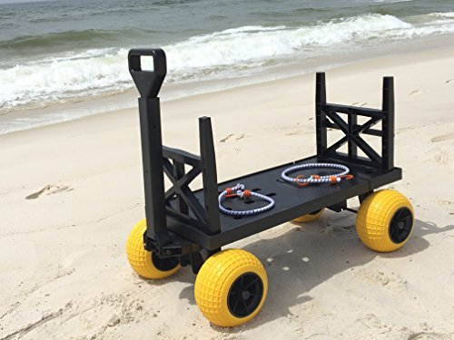 Beach Wagon Cart For Sand With Wheels All Terrain Haul